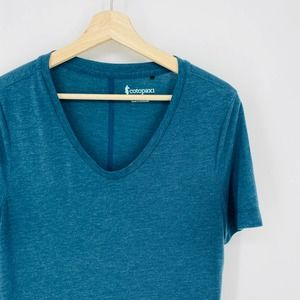 Cotopaxi Heather Blue V-Neck Short Sleeve T-Shirt